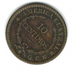 Münze > 10Centimos, 1920-1922 - Costa Rica  - reverse