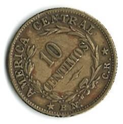 Monēta > 10sentimo, 1942-1947 - Kostarika  - reverse