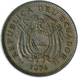 Pièce > 20centavos, 1974 - Équateur  - obverse