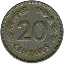Pièce > 20centavos, 1974 - Équateur  - reverse