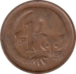 Mynt > 1cent, 1972 - Australia  - reverse