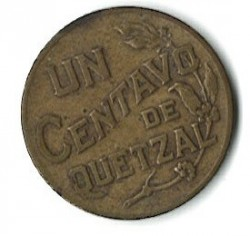 Moneda > 1centavo, 1943-1944 - Guatemala  - reverse