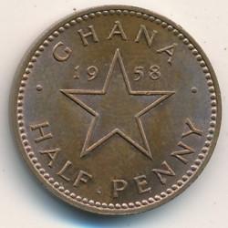 Кованица > ½пенија, 1958 - Гана  - reverse