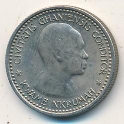 Кованица > 6пенија, 1958 - Гана  - obverse