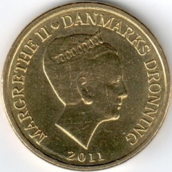 Monedă > 10coroane, 2011-2012 - Danemarca  - obverse