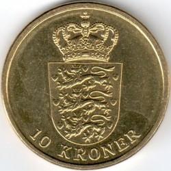 Монета > 10крон, 2011-2012 - Данія  - reverse