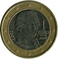 Coin > 1euro, 2002-2007 - Austria  - reverse