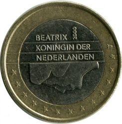 Moneda > 1euro, 1999-2006 - Países Bajos  - reverse