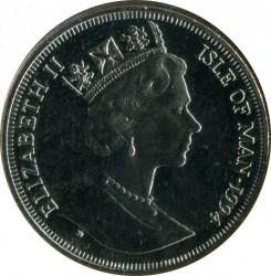 Moneta > 1corona, 1994 - Isola di Man  (50th Anniversary - D-Day. General Eisenhower) - obverse