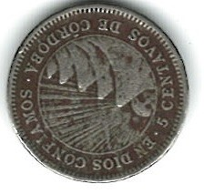 Moeda > 5centavos, 1946-1956 - Nicarágua  - reverse
