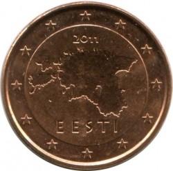 Munt > 1cent, 2011-2018 - Estonië  - reverse