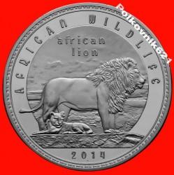 Moneta > 1000kwacha, 2014 - Zambia  (Afrykańska przyroda - Lew afrykański) - reverse