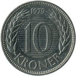 Munt > 10kroner, 1979-1988 - Denemarken  - reverse