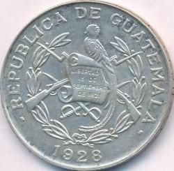 Moneda > ¼quetzal, 1926-1949 - Guatemala  - obverse