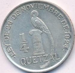 Moneda > ¼quetzal, 1926-1949 - Guatemala  - reverse