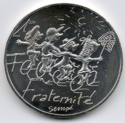 Münze > 10Euro, 2014 - Frankreich  (Bruderschaft/Sommer) - obverse