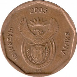 Coin > 50cents, 2005 - South Africa  - obverse