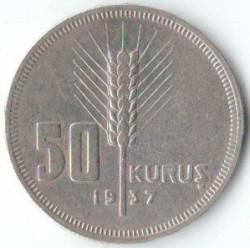 Moneta > 50kurušų, 1935-1937 - Turkija  - reverse