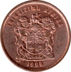 Coin > 1cent, 1996 - South Africa  - obverse