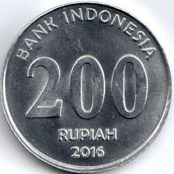Кованица > 200рупија, 2016 - Индонезија  - reverse