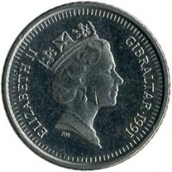 מטבע > 5פנס, 1990-1997 - גיברלטר  - obverse