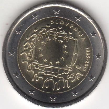 2 Euro 2015 Eu Flagge Slowenien Münzen Wert Ucoinnet