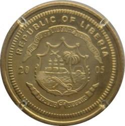 Монета > 10доларів, 2005 - Ліберія  (25 років Крюґерранду) - obverse