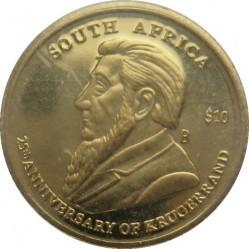 Монета > 10доларів, 2005 - Ліберія  (25 років Крюґерранду) - reverse