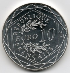Coin > 10euro, 2017 - France  (France by Jean Paul Gaultier - Normandy) - reverse