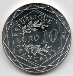 Монета > 10евро, 2017 - Франция  (Бретань /удочка/) - obverse