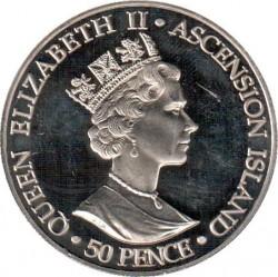 Moneta > 50pensów, 2002 - Wyspa Wniebowstąpienia  (Śmierć Królowej Matki) - obverse