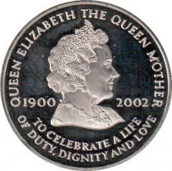 Moneta > 50pensów, 2002 - Wyspa Wniebowstąpienia  (Śmierć Królowej Matki) - reverse