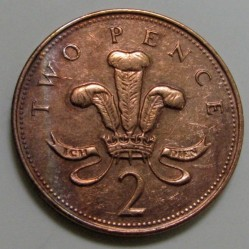 Munt > 2pence, 1998-1999 - Verenigd Koninkrijk  - obverse