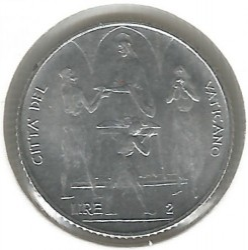 Moneta > 2lire, 1968 - Vaticano  - obverse