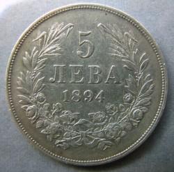 Monedă > 5leve, 1894 - Bulgaria  - reverse