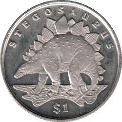 Münze > 1Dollar, 2006 - Sierra Leone  (Dinosaurs - Stegosaurus) - reverse