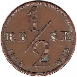 Moneta > ½rigsbankskilling, 1852 - Dania  - obverse