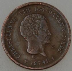 "Moneta > ⅕rigsbankskilling, 1842 - Dania  (Napis na rewersie ""R.B.S."") - reverse"