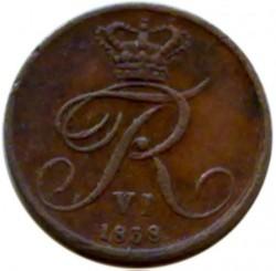 Монета > ½ригсбанкскилинг, 1838 - Дания  - obverse