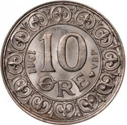 Coin > 10ore, 1911 - Denmark  - reverse