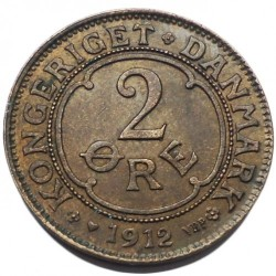 Moneda > 2öre, 1907-1912 - Dinamarca  - reverse