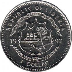 Монета > 1доллар, 1997 - Либерия  (Гибель Принцессы Дианы) - obverse
