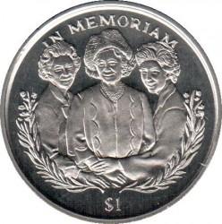 Moneta > 1dollaro, 2002 - Sierra Leone  (In memoria - Regina madre, regina Elisabetta II e la principessa Margaret) - reverse