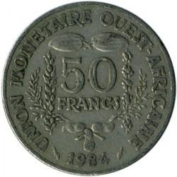 Mynt > 50francs, 1972-2011 - Vest-Afrika (BCEAO)  - reverse