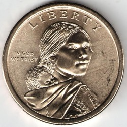 Coin > 1dollar, 2017 - USA  (Native American - Sequoyah) - obverse