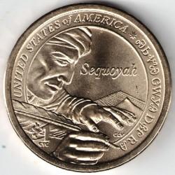 Coin > 1dollar, 2017 - USA  (Native American - Sequoyah) - reverse
