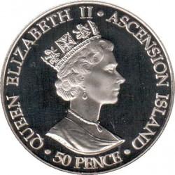 Moneta > 50pence, 2002 - Ascensione (Isola)  (50° anniversario - Ascesa della regina Elisabetta II ) - obverse