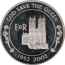 Moneta > 50pence, 2002 - Ascensione (Isola)  (50° anniversario - Ascesa della regina Elisabetta II ) - reverse