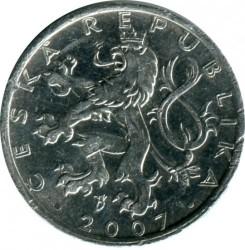 Moneda > 50hellers, 2007 - República Checa  - reverse