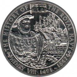 Moneta > 5svarai, 2004 - Gernsis  (History of the Royal Navy - Henry VIII) - reverse